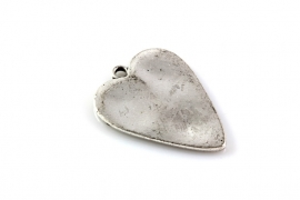 Hanger hart antiek zilver 30 x22 mm per 1 of 10 stuks