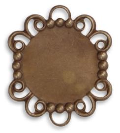 Vintaj Rococo Mirror 29x25mm, per stuk