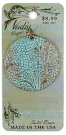 Vintaj Patina Dragonfly Reed 42mm, Natural Brass