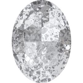 Swarovski #4127 Big Oval 30x22mm Crystal Silver Patina, per stuk