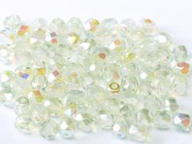 00030/98539 Fire polished 3mm Crystal Green Rainbow, 100 of 50 stuks, vanaf