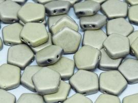 Pego Bead 10 mm Crystal Amber Full Matted, per 5 stuks