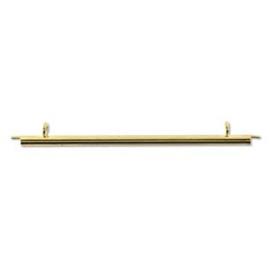 Miyuki Eindbuisje (Slide Tube) 60 mm goudkleurig, per 2 stuks