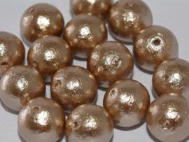 Miyuki Cotton Pearl Beige 8mm, per 5 stuks