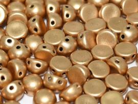 2-Hole Cabochon 6mm Aztec Gold, per 25 stuks