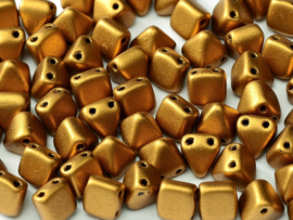 Pyramid beads Brass Gold, per 10 stuks