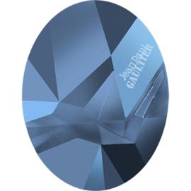 Swarovski #4920 Kaputt Oval JP Gaultier LOGO, 29mm Crystal Metallic Blue, per stuk