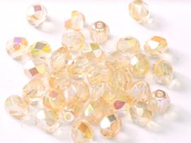 00030/98531 Fire polished 3mm Crystal Yellow Rainbow, 100 of 50 stuks, vanaf