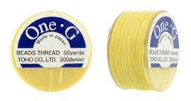 PT-50-09 TOHO One-G Thread 50 Yard Lt Yellow, per rol van 45 meter