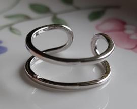 Ring, te combineren met kraalwerk, verstelbaar, per stuk