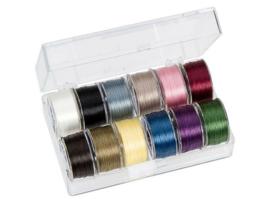 PT-50-1001 TOHO One-G Thread 50 Yard/45m 12 kleuren in een doosje #1