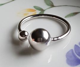 Ring met grote en kleine bol, verstelbaar, per stuk