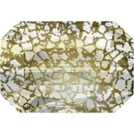 Swarovski #5515 Emerald Cut Bead 14x9,5mm Gold Patina, per stuk