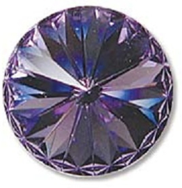 Swarovski #1122 12mm Tanzanite, foiled, per stuk