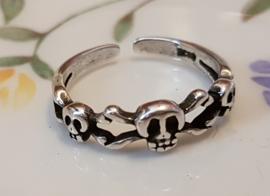 Ring Skull, verstelbaar, per stuk