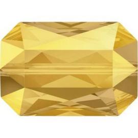 Swarovski #5515 Emerald Cut Bead 14x9,5mm Metallic Sunshine, per stuk