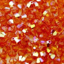 #5328 4mm Tangerine AB, per 2 stuks