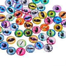 Cabochon oog Mixed Color, 25x7mm per stuk