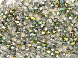 00030/28101 Fire polished 3mm Crystal Vitrail, 100 of 50 stuks, vanaf