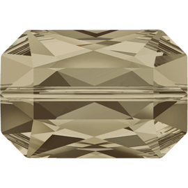 Swarovski #5515 Emerald Cut Bead 14x9,5mm Smoky Quartz, per stuk