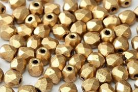 1710 Fire polished 3mm Aztec Gold, 100 of 50 stuks, vanaf