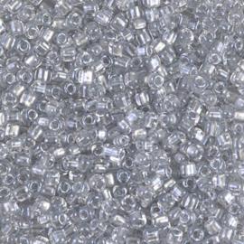 TR10-1105Miyuki 10/0 Triangle Sparkling Pale Grey Lined Crystal, per 10 gram