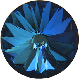 #1122 Rivoli 18mm Crystal Bermuda Blue, foiled, per stuk