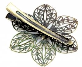 Haarklem antiekbronskleur 44 bij 38mm, per stuk
