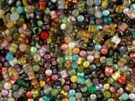Diabolo  Beads Colour Mix, per 50 stuks
