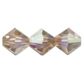 Swarovski #5328 3mm Light Colorado Topaz AB, 48 stuks €5,65, per 2 stuks €0,30