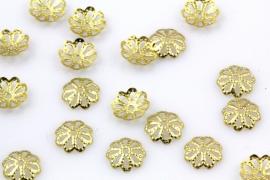 Kraalkapje 7.5mm brons/goudkleurig per 5 gram ongeveer 65 stuks
