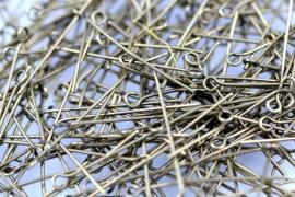 Kettelstiften brons 3.2 cm per 10 gram ongeveer 70 stuks