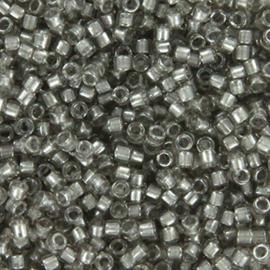 DB2393 Miyuki Delica 11/0 Fancy Lined Silver, per 5 gram