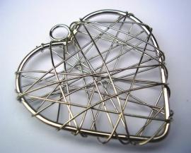 Hanger Wire Hart 4cm