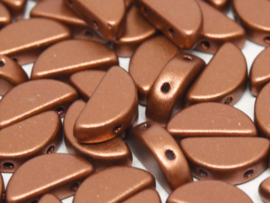 Semi Circle Beads Copper, per 10 stuks