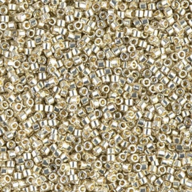 DB1831 Miyuki Delica 11/0 Duracoat Galvanized Silver, per 5 gram