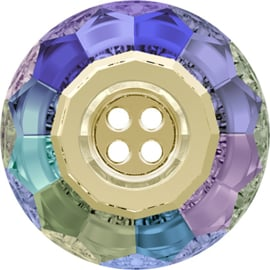 Swarovski #3008 Crystal Button 4 holes 14mm Paradise Shine, per stuk