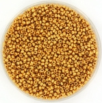 15-4203 Miyukirocailles 15/0 Duracoat Galvanized Yellow Gold, per 5 gram