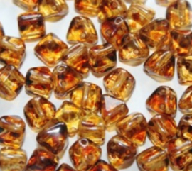Pyramid beads Crystal Travertin, per 10 stuks