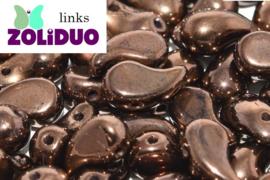 ZDL-00030/14415 Zoliduo® Links: Jet Bronze, per 25 stuks