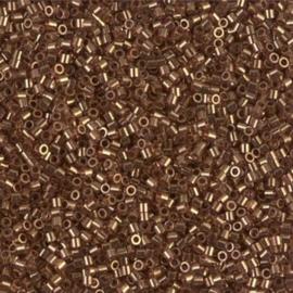 DBS0115 Miyuki Delica 15/0 Dark Topaz Gold Luster, per 2 of 5 gram, vanaf