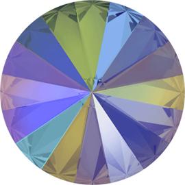 Swarovski #1122 14mm Rivoli Crystal Paradise Shine, foiled, per stuk