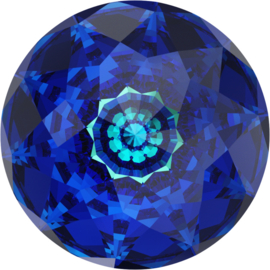 Swarovski #1400 Dome 18mm Crystal Bermuda Blue, foiled, per stuk