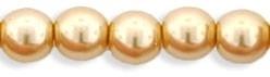 Tjechische Glasparel 4mm Pearl Gold 12827 per 100 stuks