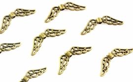 Vleugel engel bronskleurig 21x7mm per 100 stuks