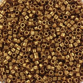 DB0115 Miyuki Delica 11/0 Gold Luster Dark Topaz, per 5 gram