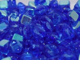 Silky Beads Sapphire AB, per 20 stuks