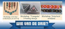 Workshop naar keuze: 'Wie van de Drie?',  op 8 en 10 mei 2020