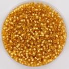11-0004f Miyuki Rocailles 11/0 Silverlined Matte Dark Gold, per 10 gram