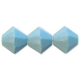 #5328 3mm Turquoise AB, 48 stuks €5,65, per 2 stuks €0,30